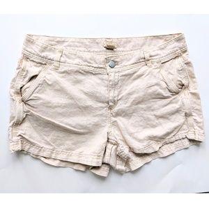J. Crew Linen Blend Tan Shorts